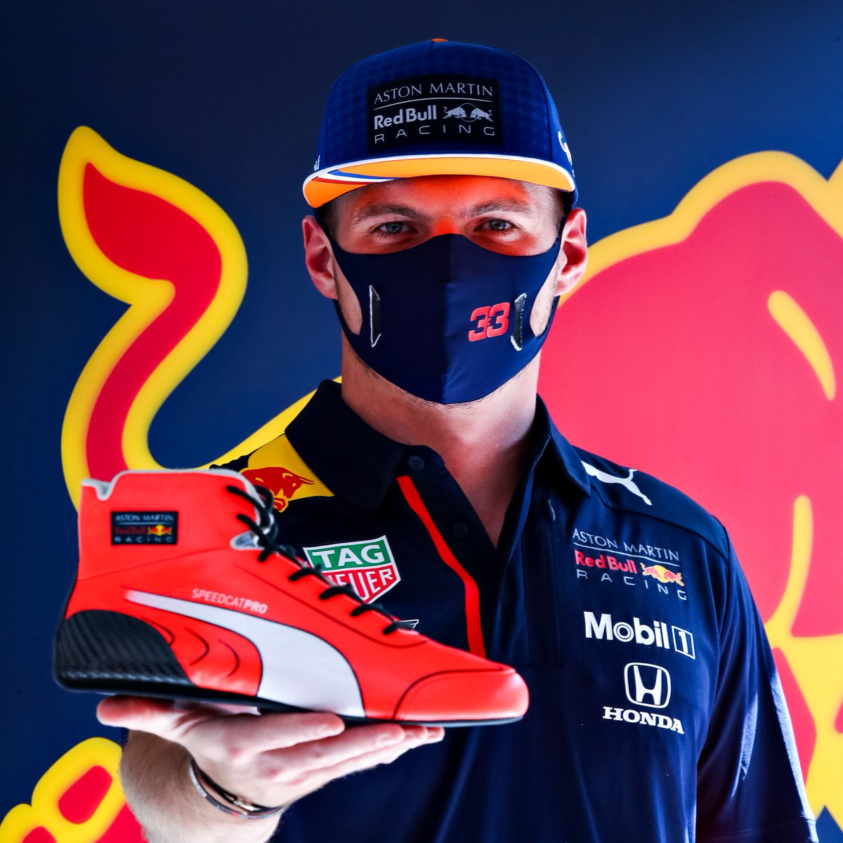Right then Max fans 👀  If you've ever thought Verstappen's race boots looked awesome, then good news!  The @pumamotorsport SpeedCat Pro shoes Max wears in F1 have now launched on the Puma store 🎉 https://t.co/Yz4E6ezcyC
