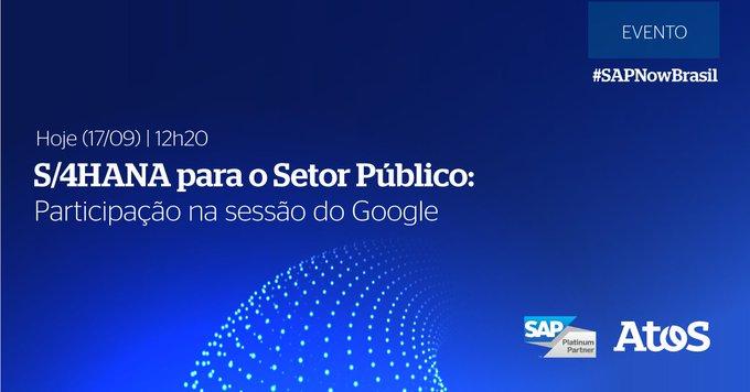 Confira a sessão S/4HANA para o Setor Público, com participação da Atos & Google no...