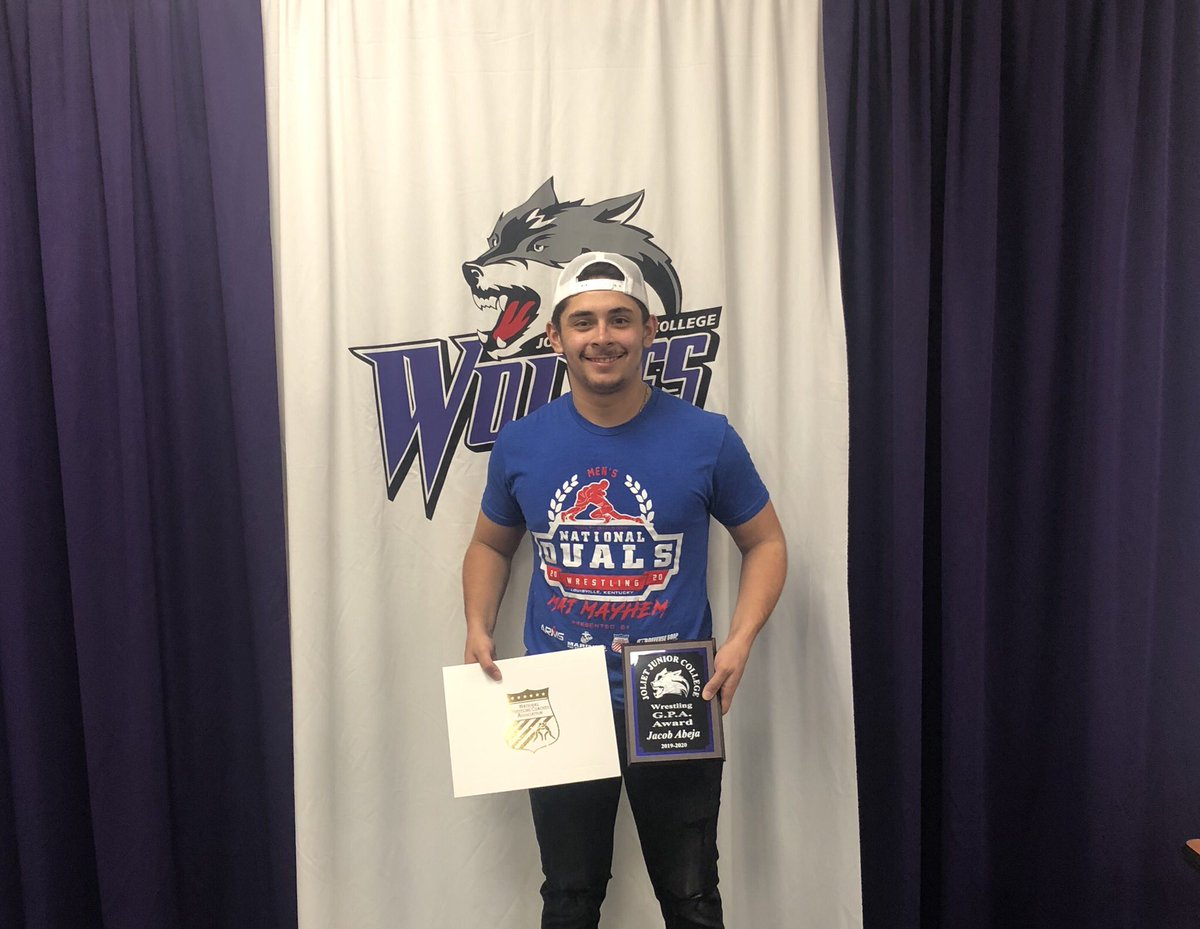 Congratulations Jacob Abeja! Jacob won our JJC Wrestling G.P.A. Award. In addition Jacob was an NWCA Scholar All-American and a N4C Academic All-Conference member.