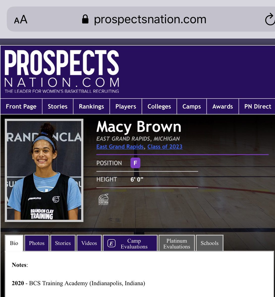 Brandon Clay College Recruiting Profile: #BClayRecruiting x @bclayrecruiting  '23 G Macy Brown (MI) is emerging into a bonafide scorer with each eval.  Michigan State and Nebraska offered.  GET YOUR OWN RECRUITING PROFILE: https://t.co/tYNfZLbdO2 @SuzyMerchant @M_B_A_Bball https://t.co/1oGDLJlScz