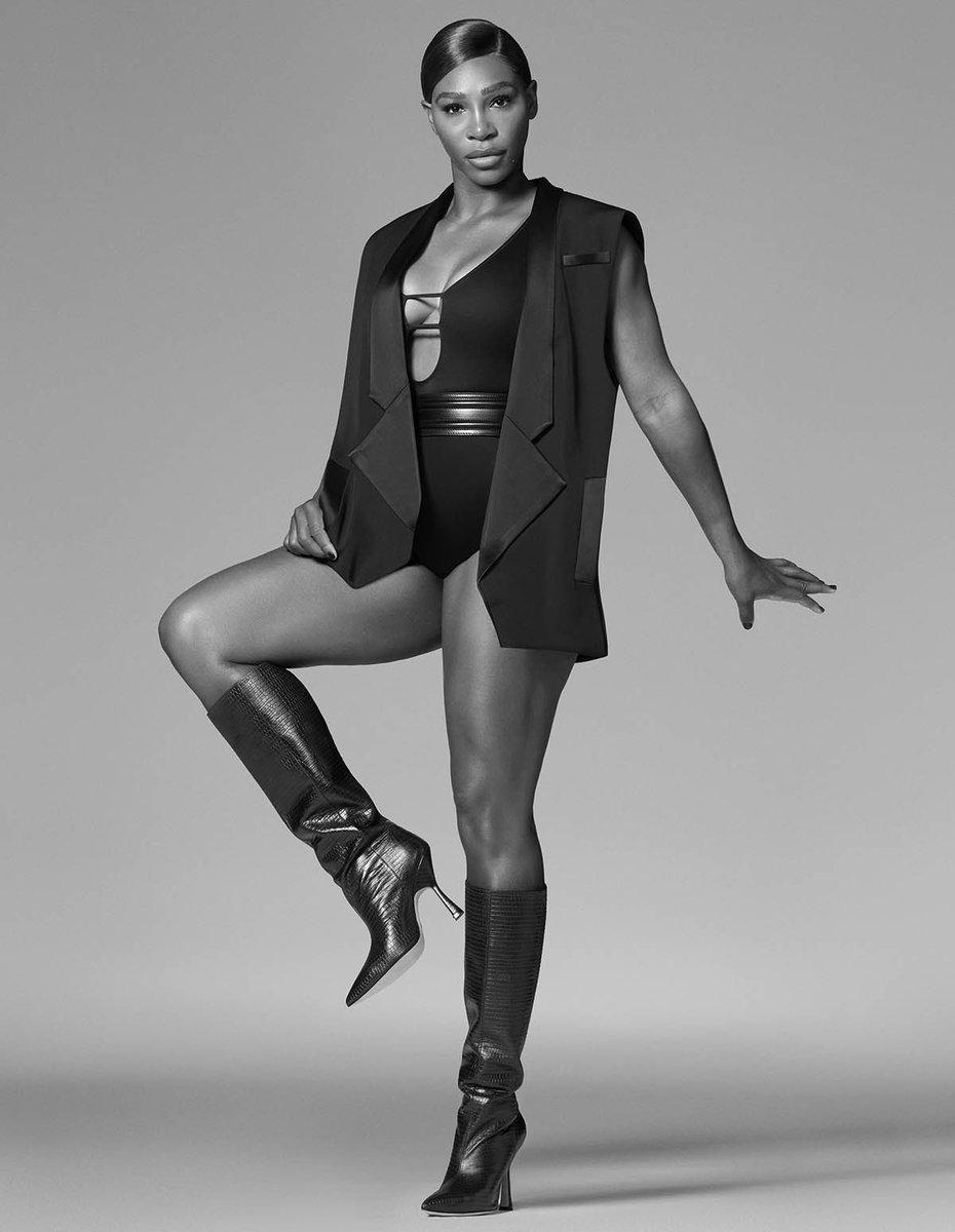 Serena Williams for Stuart Weitzman 🖤🤍