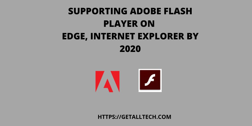 #Microsoft #officially #announced to #end #support for Adobe Flash Player by 31st December 2020 on #Microsoft Edge and Internet Explorer 11 version. It states Adobe Flash Player will be disabled by default, stop updating #AdobeFlashPlayer #Switch READ MORE https://t.co/JWOPCAKVs6 https://t.co/sIcCXgBtHw