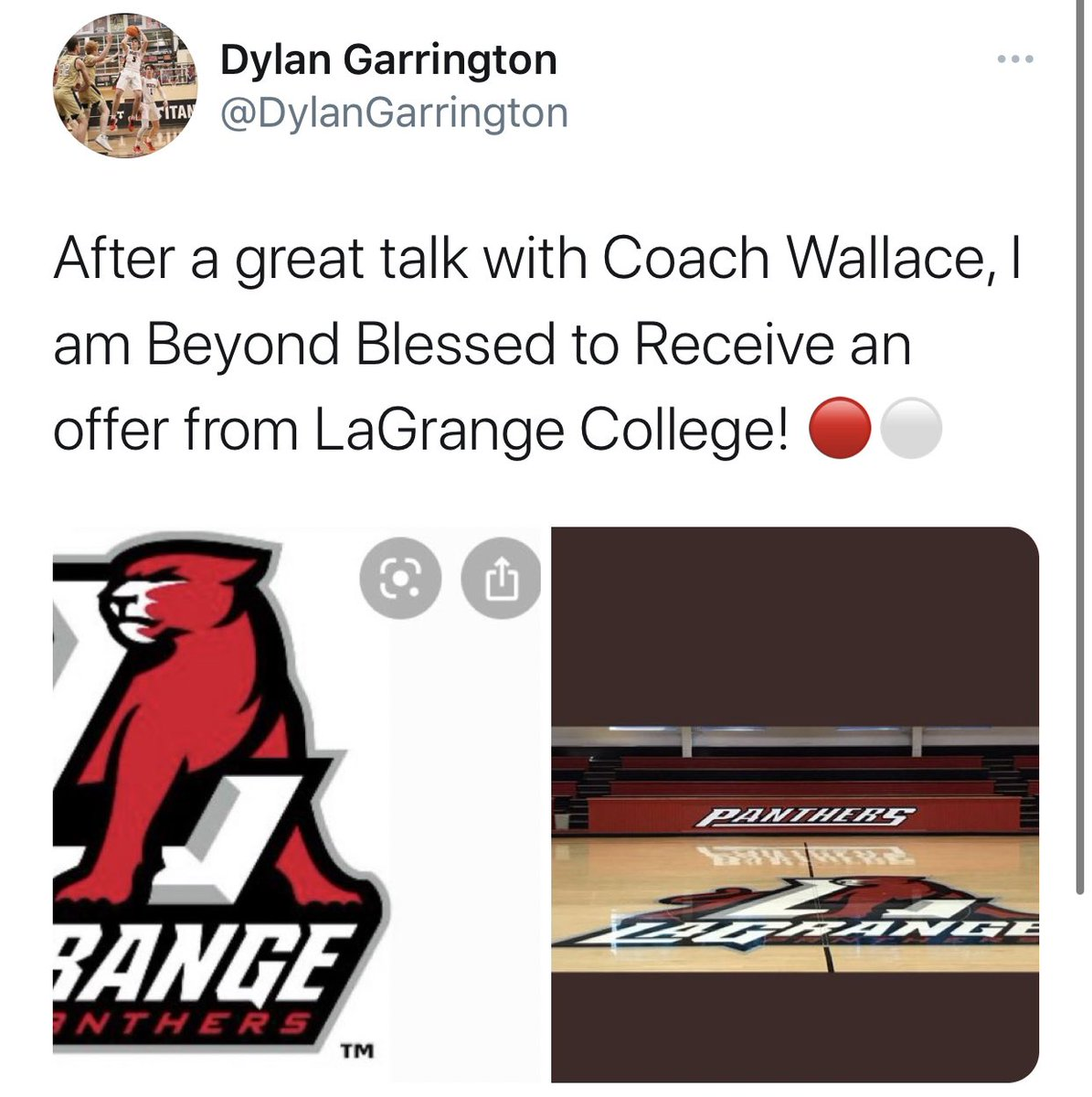 Brandon Clay College Recruiting Profile: #BClayRecruiting x @bclayrecruiting  '21 G Dylan Garrington (GA) has proven all summer 2020 that he can score it.  LaGrange has taken notice. They offered.  GET YOUR OWN RECRUITING PROFILE: https://t.co/tYNfZLbdO2 @LC_MBB https://t.co/79squZ9rGJ