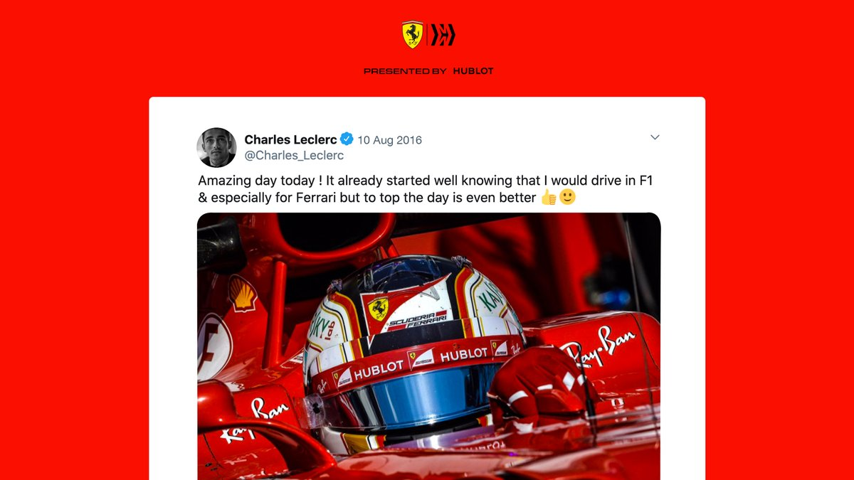 Driving an #F1 car is something special, driving for @ScuderiaFerrari is something else 🥰  #essereFerrari 🔴 https://t.co/nA5g9PbfmU