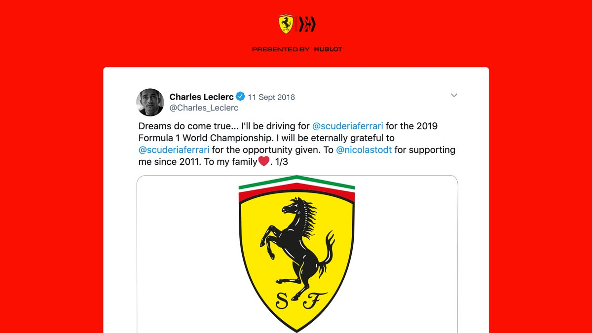 And then… 𝗧𝗛𝗔𝗧 day when it all became official 🙌  #essereFerrari 🔴 https://t.co/Mqv23oorwp