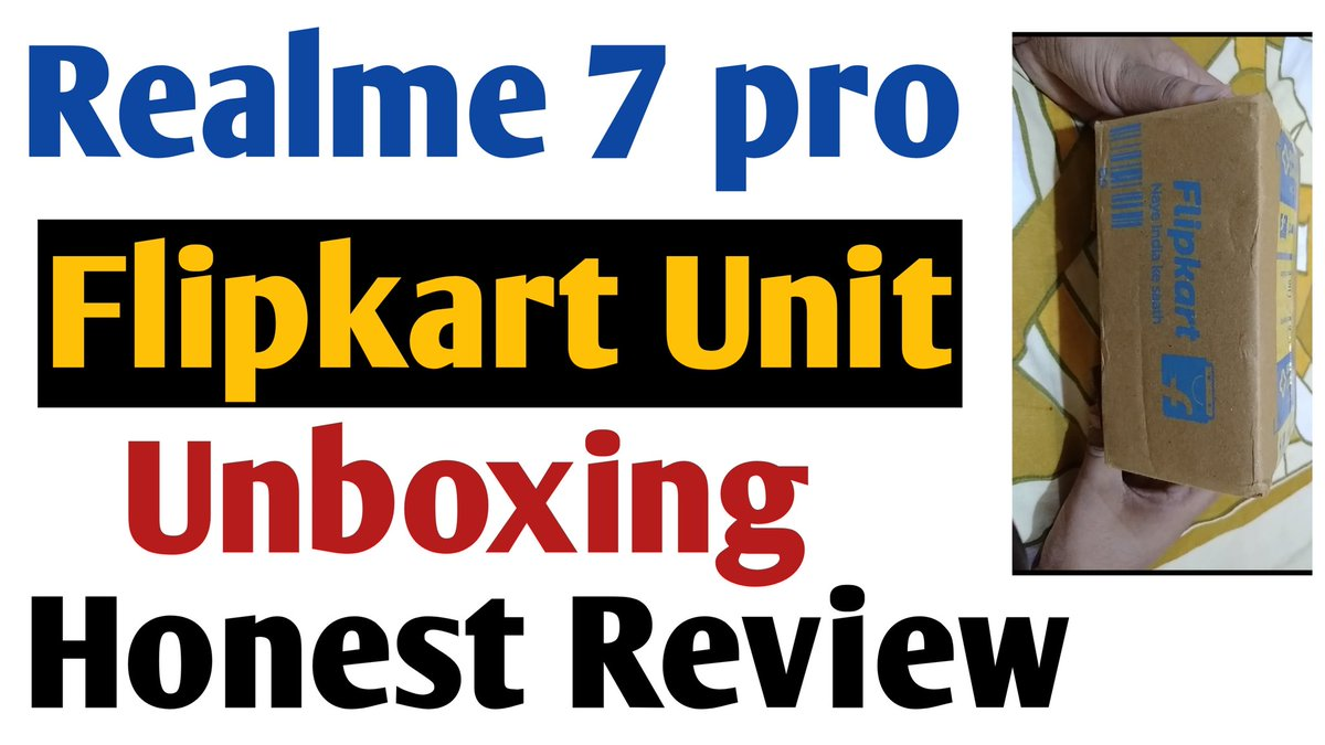 https://t.co/M4G83bJK98 Realme 7 pro Flipkart Retail Unit unboxing and my honest Review https://t.co/tJeIFjEO1c