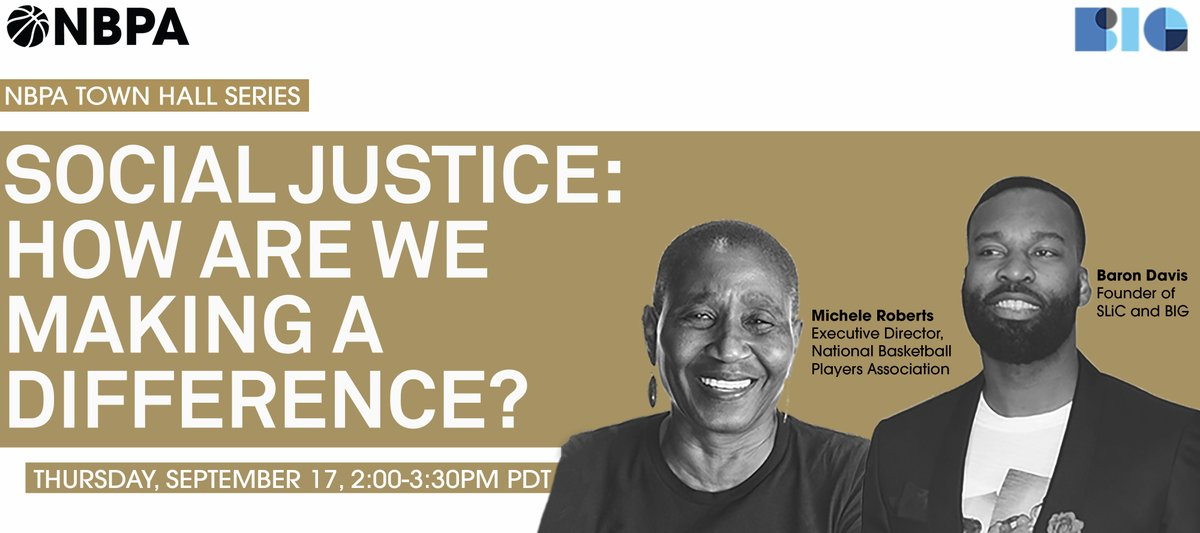 Today at 2pm PT!! Tune into this deep, thought-provoking conversation surrounding the killings of Ahmaud Arbery, Breonna Taylor, George Floyd and others, and what athletes and @theNBPA are doing to incite change.  Tune in live at https://t.co/SIBNoz0AHi  #athletesforjustice #nbpa https://t.co/gOd7cfaUHe