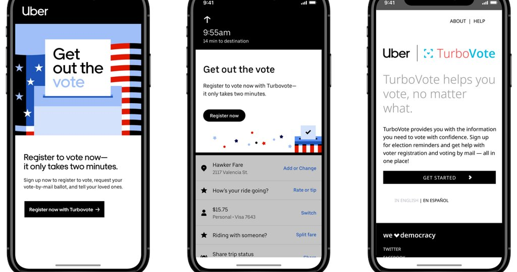 What apps like Snapchat, Uber, and Lyft are doing to get out the vote