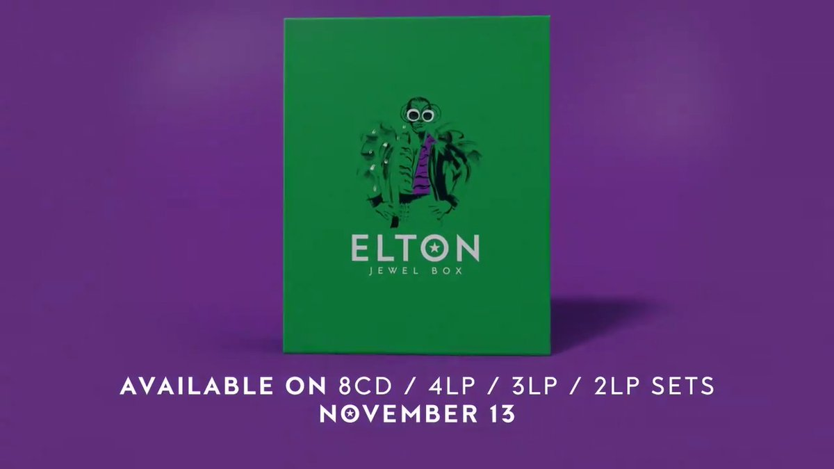 Get ready for 𝘌𝘭𝘵𝘰𝘯: 𝘑𝘦𝘸𝘦𝘭 𝘉𝘰𝘹, out 11/13! Containing an unrivalled 148 songs spanning 1965-2019, this new collection explores @EltonOfficial's extensive back catalog, including 60 previously unreleased tracks, in a bevy of configurations ✨🚀 https://t.co/25ehimredS https://t.co/bWRjzNxTgb