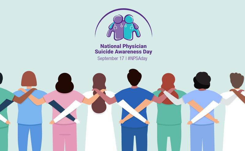 Physicians & students face many challenges and stresses. Just a few of the things we can all do: - Check on your colleagues and peers - Educate yourself - Learn to recognize warning signs - Listen non-judgmentally - Speak up - Offer support - Encourage professional help  #NPSAday https://t.co/8KAk3yfJpV