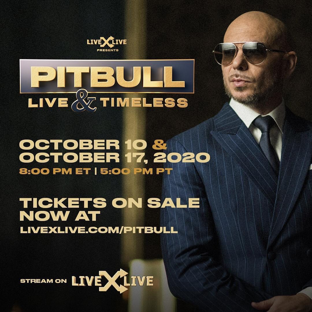 Dont miss out @pitbull @livexlive #themostwinning 🚨🔥🌎