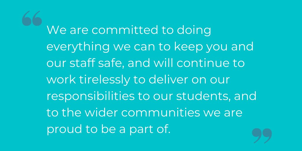 The safety of students, staff and local communities is top priority, say Welsh university leaders in a joint statement to students.   Read the full statement here 👇 https://t.co/BaIZxsHrrk https://t.co/jd45fb6R29