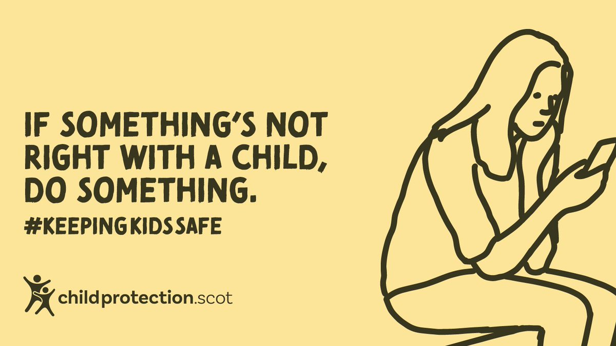It's everyone's responsibility to make sure children are kept safe from harm. We've teamed up with @childprotectsco , @BarnardosScot and @policescotland to give advice and information for anyone who may be worried about a child. Click here for more info: https://t.co/eKGDajBoCd https://t.co/Jo6rIHayiT