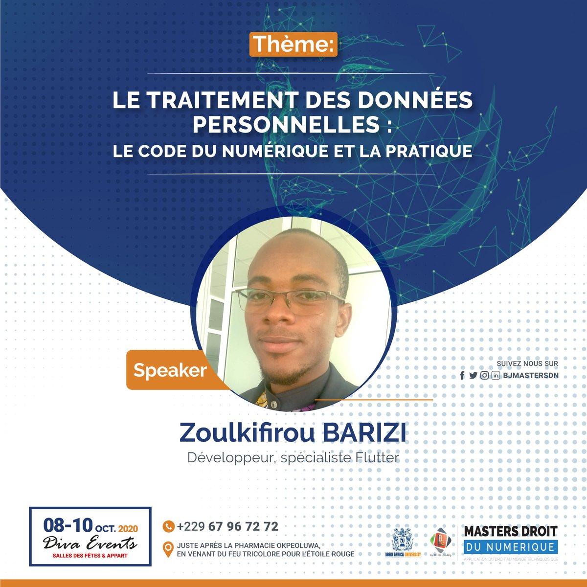 Zoul BARIZI est développeur et intégrateur de solutions web et mobile. Porte d'entrée de la collecte des données, il nous dira quelle place est faite à la thématique dans les milieux du coding. Obtenez votre pass maintenant 👉https://t.co/Aay8Dg9b8X #droitnumerique #BJMasterDN https://t.co/OK4A5QGMth