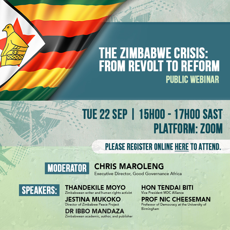 On Tuesday 22 September 2020, our National Director, @Jesmunga joins a discourse on the Zimbabwean crisis. From 1500hrs to 1700hrs.  If you would like to join us, please RSVP by Monday 21 September 2020 or register here: https://t.co/Rd3YTNhO0W https://t.co/fzCfh5gpOO