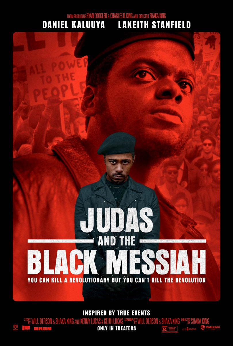 The first poster for #JudasAndTheBlackMessiah is here. 🎥🔥  From Producers Ryan Coogler & @IAmCharlesDKing. Directed by Shaka King.  Starring Daniel Kaluuya & LaKeith Stanfield.  Coming 2021. https://t.co/AP3uamoah4