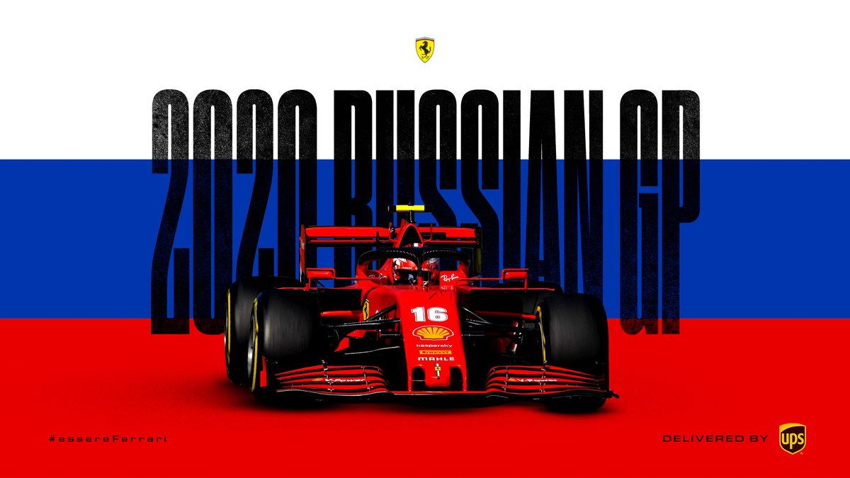 T-7 Days 🚀  Delivered by @UPS  #essereFerrari 🔴 #RussianGP https://t.co/3QuP9aY6NO