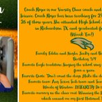 Image for the Tweet beginning: Meet Coach Royer!  So dedicated!