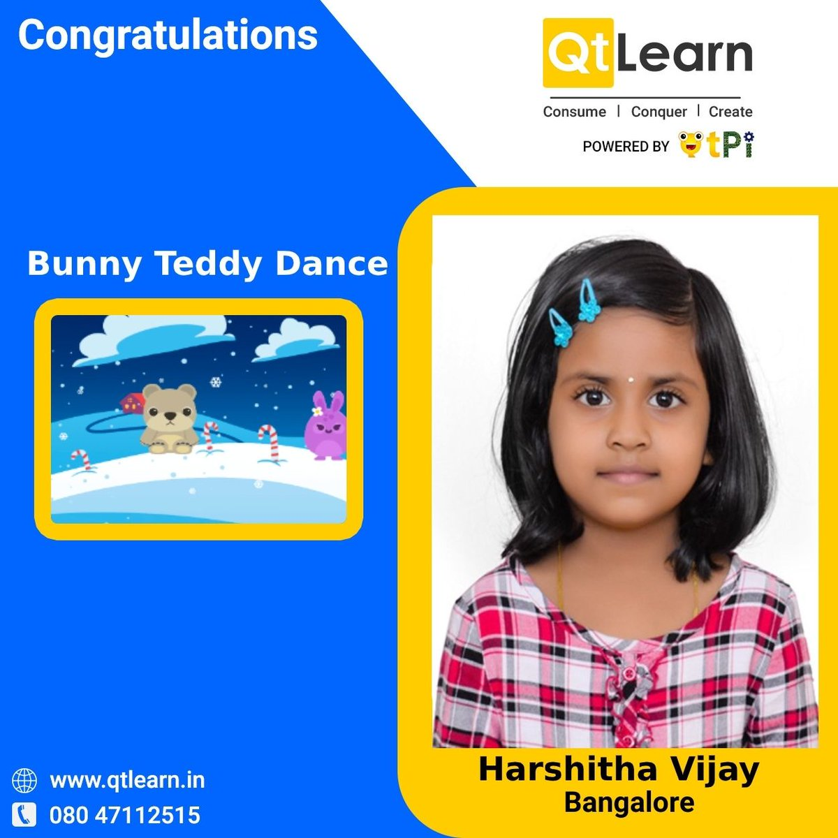 Harshitha Vijay of BRS Global School, Bengaluru loves #coding & creates her own apps. 😊  Try an Hour of #coding trial class for only 𝐑𝐬 𝟗𝟗/-  𝐑𝐞𝐠𝐢𝐬𝐭𝐞𝐫 𝐇𝐞𝐫𝐞: https://t.co/DgX0c2bpur  #100DaysOfCode #AI #STEM #codingcult #robotics #codingforkids #appdevelopment https://t.co/aia5YE9mot