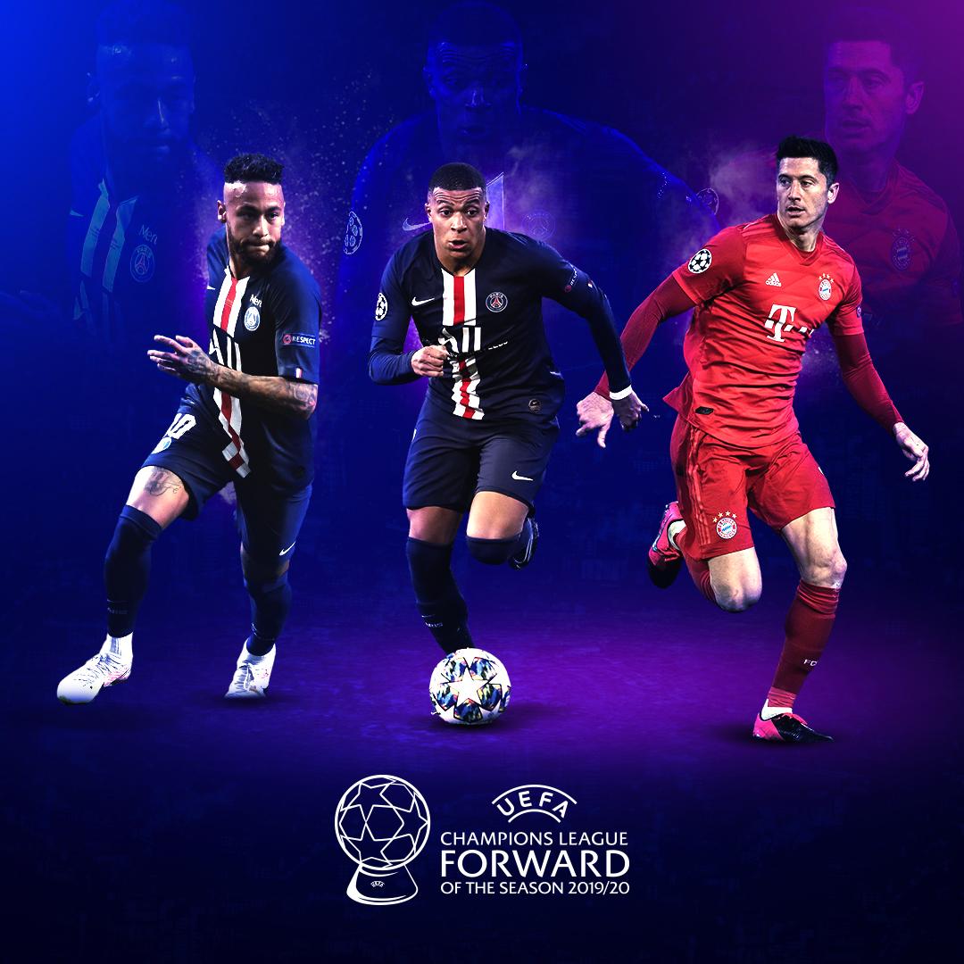 ⚽️ Neymar. Mbappé. Lewandowski. ⚽️  ¿Cuál ha sido el Delantero de la Temporada de la #UCL 2019/20?   #UEFAawards https://t.co/WjJIM0Agec
