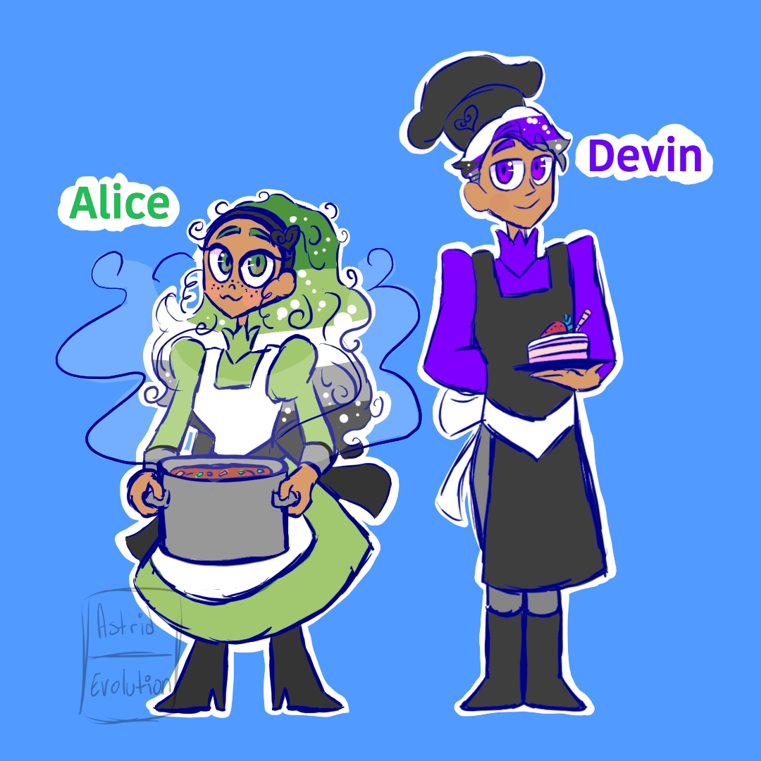 Meet Ace's siblings! Alice (Aromantic Pride) and Devin (Demisexual Pride)  #occharacters #pridemonth2020 #pridecharacter #prideappreciation #demisexual #aromantic #openartcommission #valid https://t.co/bva2VzyFZj