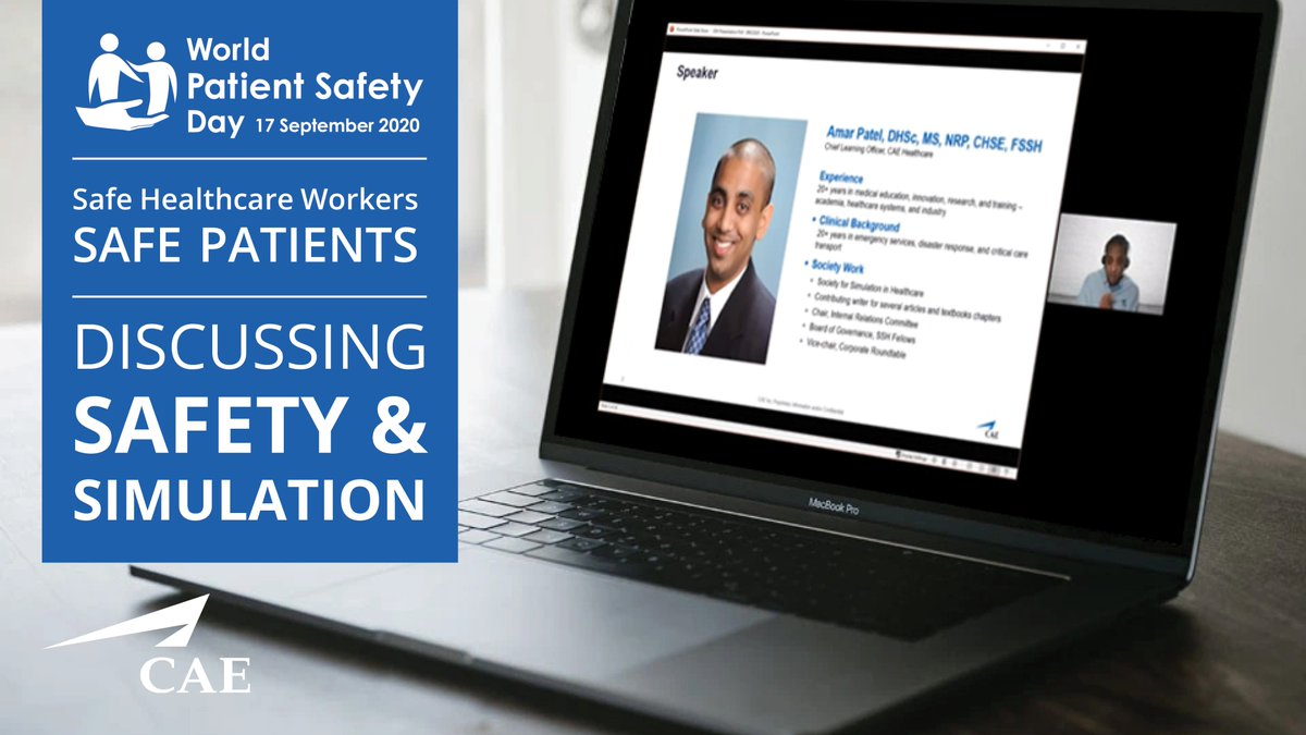 Join the discussion with CAE Healthcare's Chief Learning Officer Amar Patel and Christine Park, MD, FSSH, on how simulation can help centers achieve a safer culture.  https://t.co/I5cez7ci6j  #WorldPatientSafetyDay #CAE https://t.co/d4lfPFa1Ng