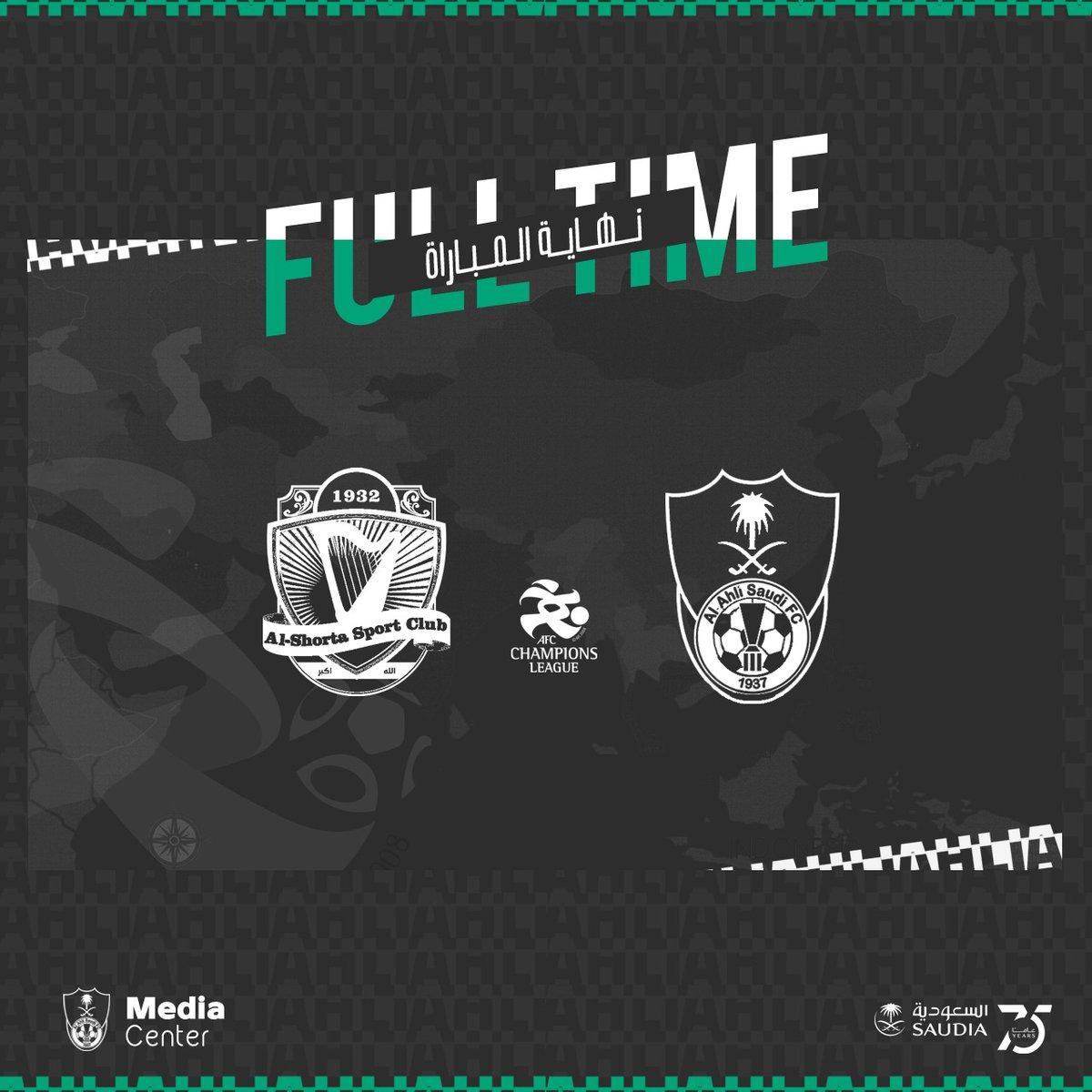 نهاية المباراة:  #الأهلي  1   vs   الشرطة العراقي  2  #الأهلي_الشرطة_العراقي   #دوري_أبطال_آسيا   #ACL2020 https://t.co/eX6oIVjvPV