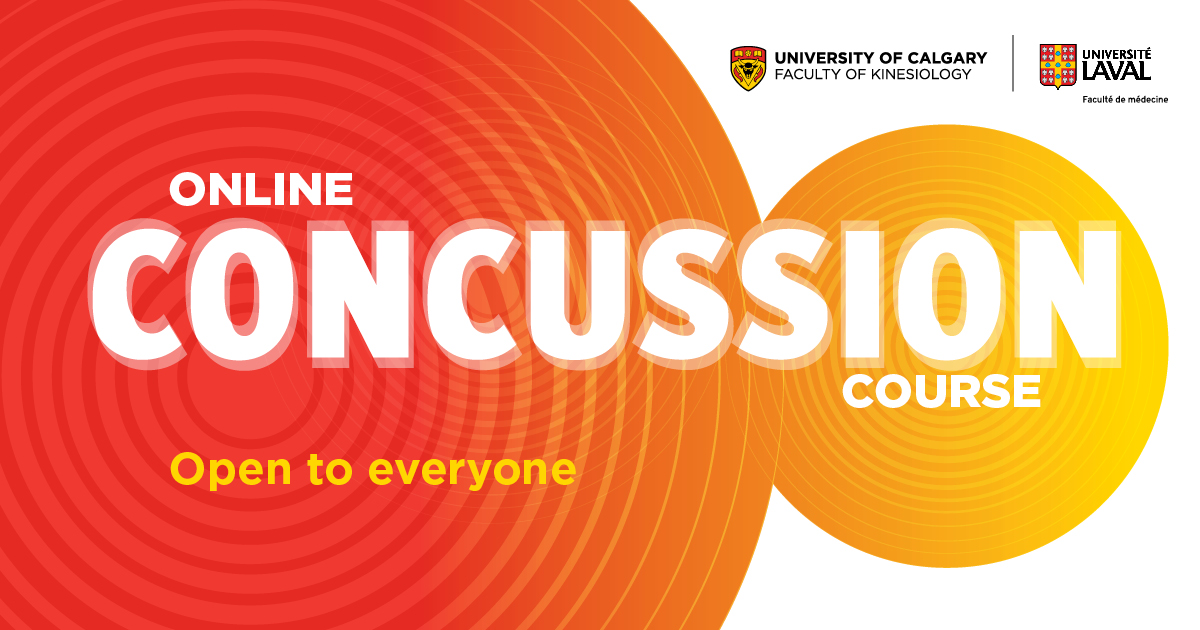 """UCalgary Kinesiology on Twitter: """"Good news! The free, 7-week online #concussion  course is back from @UCalgary and @universitelaval Sept. 28 – Nov. 23.  Learn to prevent, manage and detect concussions: https://t.co/YlfrSOr4kH  With @"""