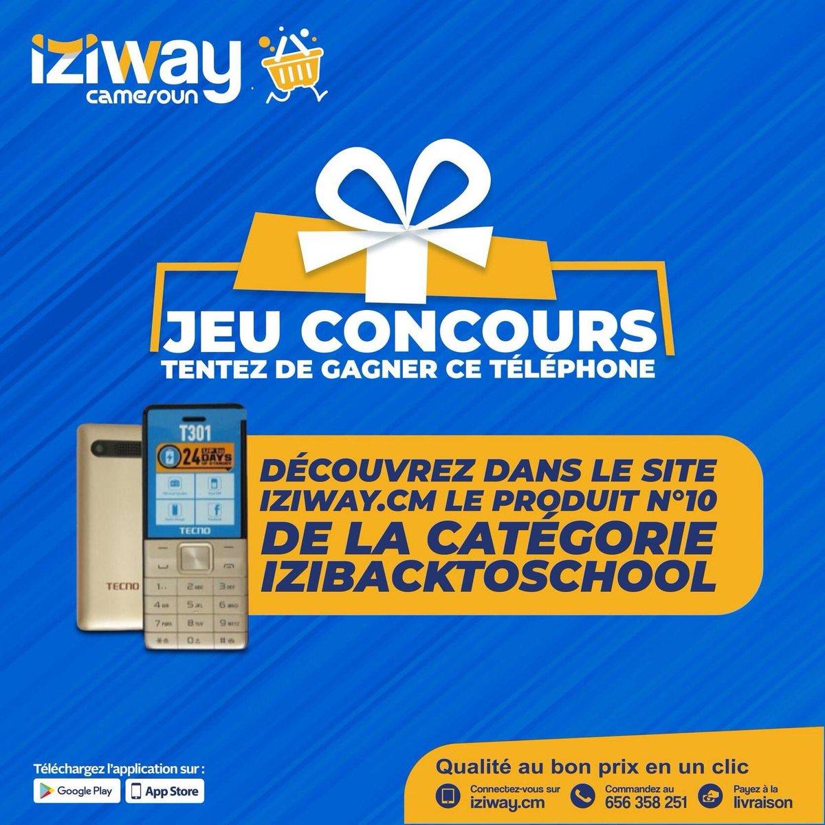 🎁 JEU CONCOURS🎁  Téléphone TECNO T301 à gagner  🔸 Suivez le lien de la catégorie izibacktoschool ( https://t.co/p7K1biWuLZ ) 🔸 Trouvez quel est le 10ème produit de cette catégorie 🔸 Mettez en commentaire le nom du produit  ⚠️ FIN DU CONCOURS LE DIMANCHE LE 20 https://t.co/Be2EZzkuMS