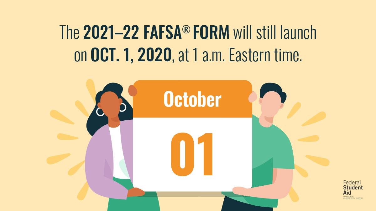 A lot has changed due to the #coronavirus (COVID-19) emergency, but one thing that hasn't? The FAFSA® form 👇 fafsa.gov