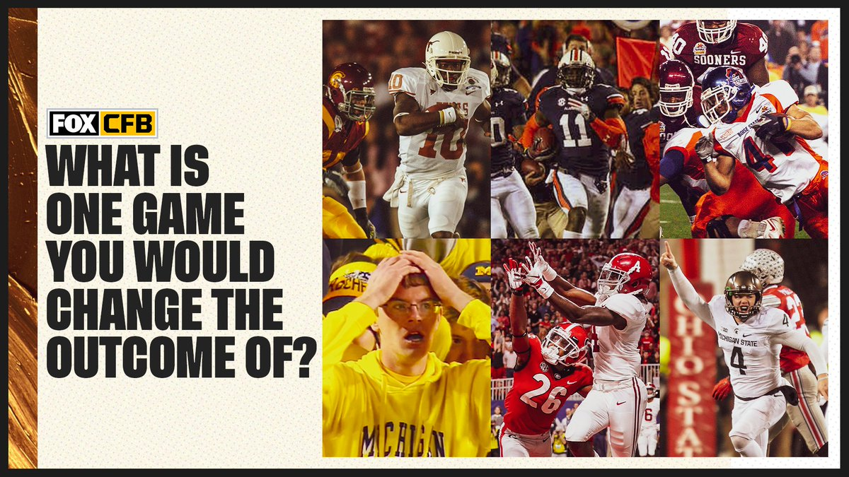 If you could change the outcome of 1 game in CFB history, which one would it be? 😅 https://t.co/TbHMDTNowe
