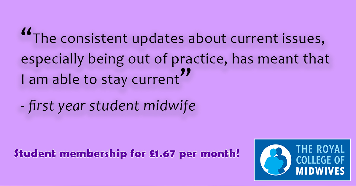 Are you ready to start your #midwifery degree? We're here to support you throughout your studies and placements with online learning tools, library access, representation and insurance for £1.67 a month. Join today: https://t.co/yHuXUjqsk3 @RCM_SMF #students https://t.co/DfmDigyHjI