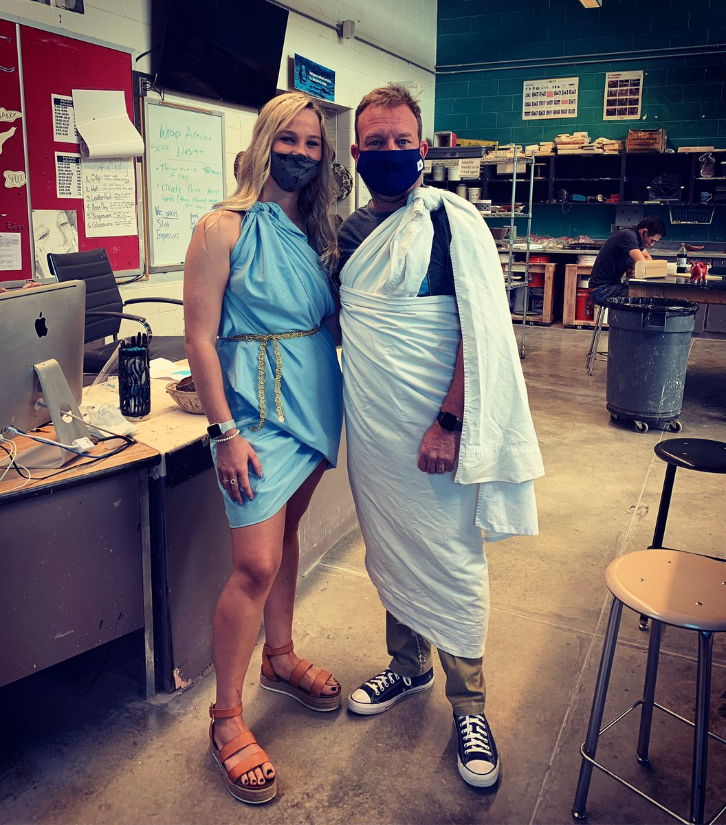 Toga day at HHS. Class of 2021 #hooverpride