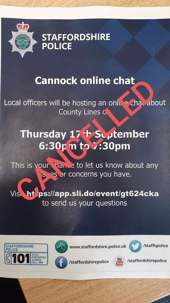 Due to unforseen circumstances tonight's online chat has been cancelled. We apologise for any inconvenience caused. A new date and time will be arranged so keep your eyes peeled..... https://t.co/ergUVdCPfb