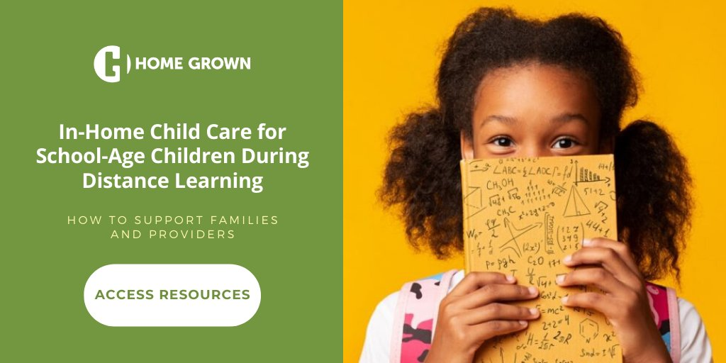 Please share! Resources & recommendations for supporting school-age distance learners in home-based child care. @HomeGrownOrg https://t.co/OB7sLb8Qtj