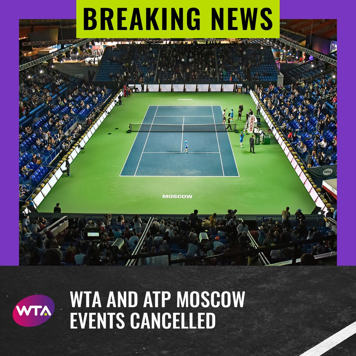 The WTA and @atptour have announced the cancellation of the 2020 VTB Kremlin Cup in Moscow, due to issues relating to COVID-19 --> https://t.co/owlMkeyLs9 https://t.co/AvdxBEmrLC