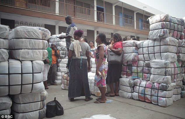 "2016 research project, titled ""Dead White Man's Clothes,"" found that in Kantamanto, the largest secondhand market in Ghana, 15 million items are unloaded each week. 40% of each bale becomes waste, dumped into overflowing landfills, the Gulf of Guinea, or burned in Accra's slums. https://t.co/23AgMWa9FK"