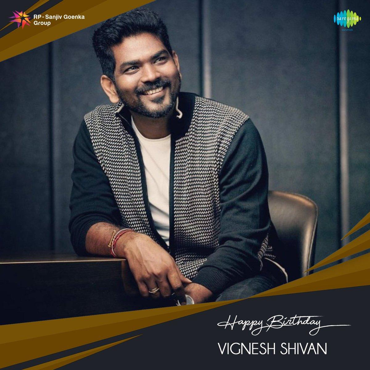 Birthday wishes to the extremely talented @VigneshShivN    #SaregamaWishes #HBDVigneshShivan #HappyBirthdayVigneshShivan #HBDVigneshShivN https://t.co/f54iJsBktf