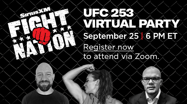 Join a VIRTUAL UFC 253 Party on Fight Nation, featuring @MieshaTate, @lionheartasmith, @jimmysmithmma & more on September 25th at 6pm ET via Zoom. Register NOW for your chance to ask a question on the broadcast!  For more information and to register visit: https://t.co/3OQhPjiDAw https://t.co/SO0WT0qJQ1