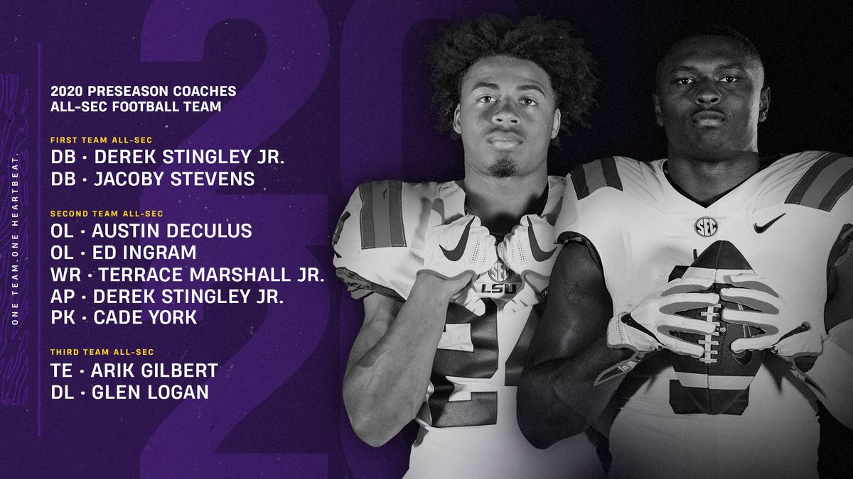 The Fighting Tigers have eight players on the Preseason All @SEC teams. 🔗 lsul.su/3hEWLd6