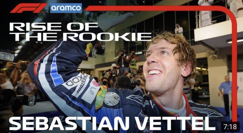Sebastian Vettel: The Story So Far   Rise of the Rookie presented by Aramco https://t.co/4Eb7KJvcON via @YouTube #F1 https://t.co/xemh2xjQ5Y