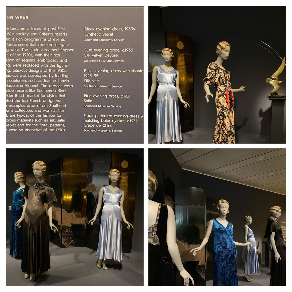 We had such a lovely time installing our beautiful gowns at the @SainsburyCentre. For anyone who hasn't seen this stunning #exhibition yet, this is the last weekend to catch the show in Norwich before it moves to the @LaingArtGallery in Newcastle #artdeco #fashion https://t.co/ooXZM3sftK