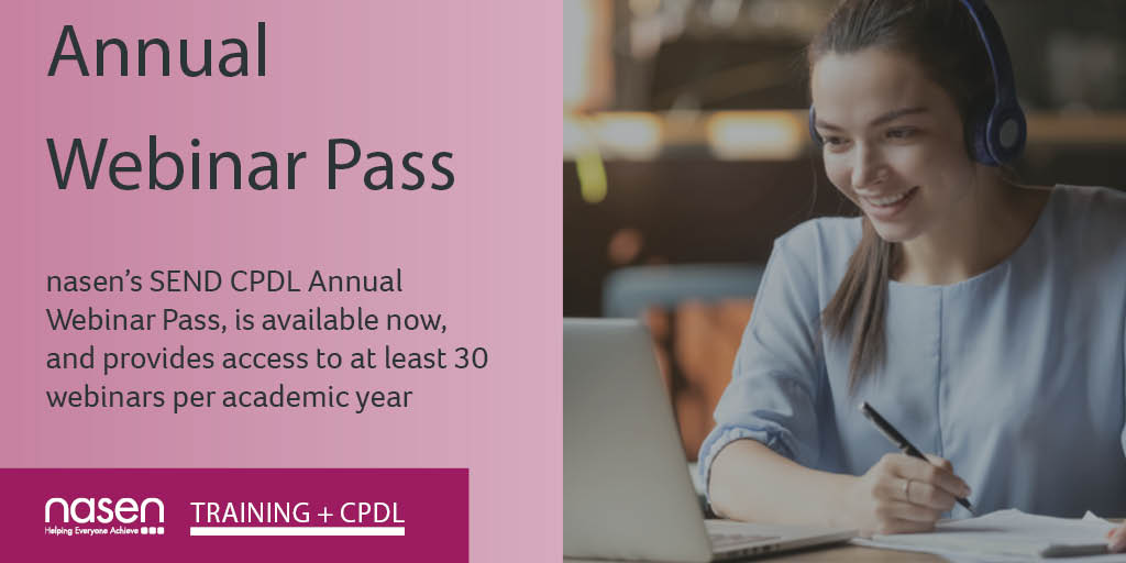Have you heard about our Annual CPDL Webinar Pass? Access to at least 30 webinars for just £200, that's less than £7 a webinar! What's more if you miss it, you'll be sent a link to the recording! Covering topics incl mental health, bullying, ADHD & more! https://t.co/vBEnScqOWK https://t.co/rFsVa7jDya