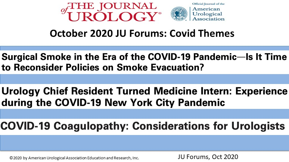 Some #uro relevant #COVID articles... because you know, it's Friday. Happy Friday!