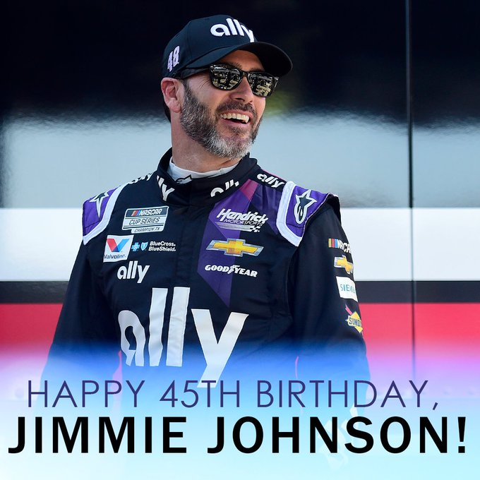 Happy 45th Birthday to seven-time NASCAR champion, Jimmie Johnson!