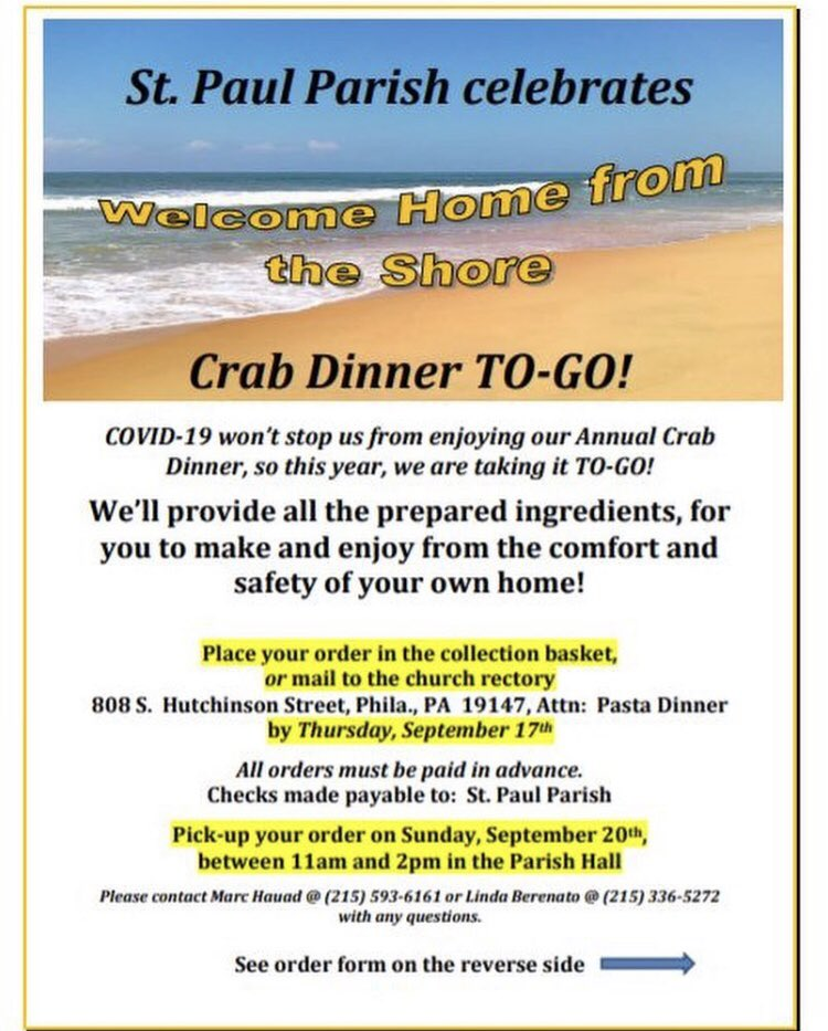 It's getting colder and the end of summer is upon us! Celebrate one last summer weekend with @Stpaulfriends yearly Crab Dinner! Today is the last day to order, so get your orders in now! 🦀 #9thStreet #ItalianMarket #IMStrongerTogether https://t.co/c2bEZj4A2E