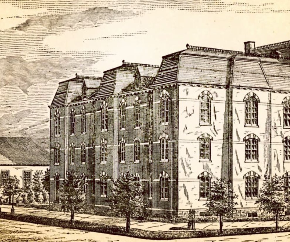 On September 5, 1870 approximately 47 students paved the way for generations to come by stepping foot into #StJohns for the very first time. Thanks to @SJUarchives for this #TBT of our former campus in Brooklyn. #StJohns150