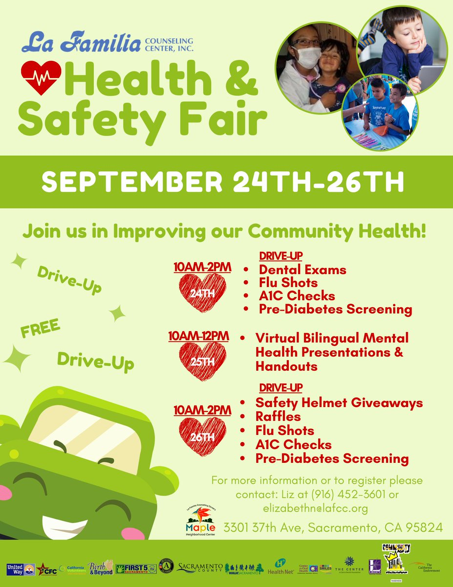 Join us for our Annual Health & Safety Fair - September 24th-26th! We will be social distancing with Drive Up Dental Exams, Flu Shots, A1 Checks, Pre-Diabetes Screening, Safety Helmet Giveaways, Raffles and Resources. Don't miss out...contact us to register. https://t.co/TGkM1g1giJ
