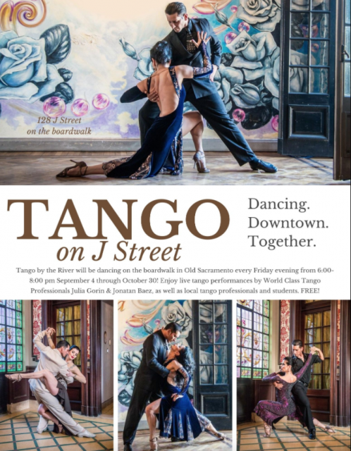 Tango on J Street 💃 Enjoy live tango performances by World Class Tango Professionals right outside of Tango by the River every Friday evening from 6-8 PM until October 30th! https://t.co/TJXeWE3JFJ https://t.co/WtrKIEWK4w