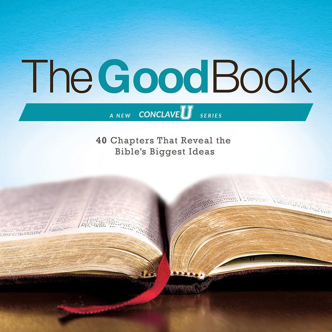 """Conclave U is BACK, starting Wednesday, September 23! We will start our new series: """"The Good Book""""! #conclave #lifegroup #thegoodbook #newseries https://t.co/q0K3R9laQW"""
